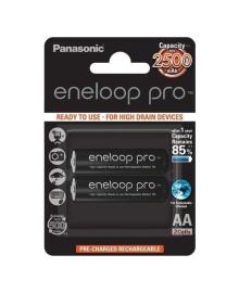 Аккумулятор Panasonic Eneloop Pro AA 2500 2 шт. BK-3HCDE/2BE, 5410853057178