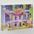 Домик для кукол Домик 16660 (12) складной, мебель, жители, звук, свет,на бат-ке,в кор-ке,50-37-9см