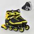 Детские ролики Best Roller 9003 L (6) колеса PU, без света , в сумке , d = 7.6 см Желтый 39-42