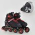 Детские ролики Best Roller 9003 L (6) колеса PU, без света , в сумке , d = 7.6 см Красный 39-42