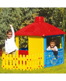 Детский игровой домик (3011) с ограждением
