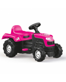 Трактор на педалях DOLU UNICORN (2507) для дівчинки рожевий DOLI