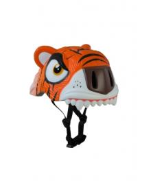 Детский шлем Crazy Safety Тигр оранжевый 2-7 лет c фонариком S