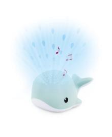 Ночник-Проектор со звуками океана и колыбельными Zazu Кит Wally синий