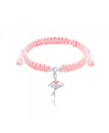 Браслет плетеный Балерина Розовый