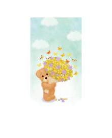 Конверт для денег Kinza Мишка с цветами KV001, 4820203762118