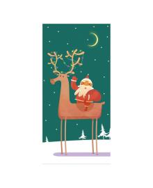 Конверт для денег Kinza Дед мороз с оленями KV021, 4820203762712