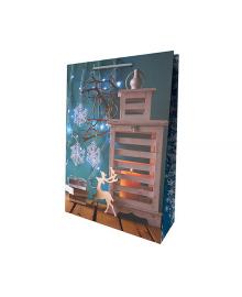 Пакет подарочный ПВ 0940 Новогодний декор САБОНА