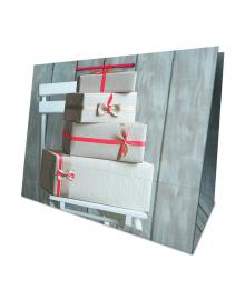 Пакет подарочный ПГ 1077 Коробки на стуле САБОНА