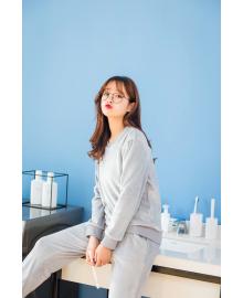 Костюм утепленный женский 2 в 1 Фантазия, серый Berni Fashion JIAY