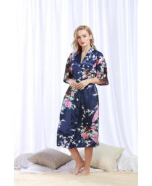 Халат домашний женский Павлин, синий Berni Fashion TZYA-200