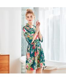 Халат домашний женский Мальва, зеленый Berni Fashion TZYA-1058