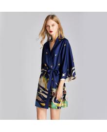Халат домашний женский Остров фантазий, синий Berni Fashion TZYA-1605