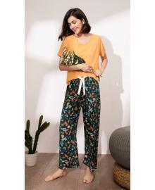 Комплект женский домашний 2 в 1 Wild animals Berni Fashion DIYAQ