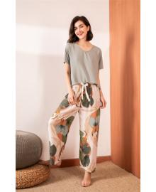 Комплект женский домашний 2 в 1 Leaves Berni Fashion DIYAQ