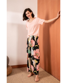 Комплект женский домашний 2 в 1 Pink flower Berni Fashion DIYAQ