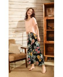 Комплект женский домашний 2 в 1 Flower paints Berni Fashion DIYAQ
