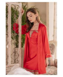 Комплект домашний женский 2 в 1 Pleasure, красный Berni Fashion SSLK-P7001