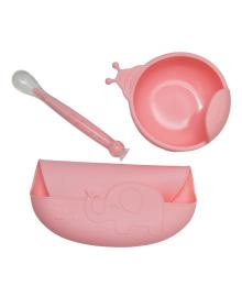 Набор силиконовой посуды KinderenOK Pink