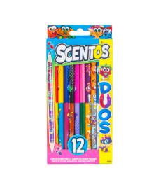Набор ароматизированных карандашей Scentos Двойное веселье 12 шт