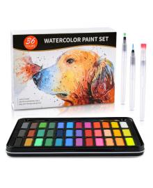 Акварельные краски для рисования Professional Paint Set 36 цветов в металлическом пенале 1201