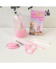 Набор по уходу за новорожденным малышом Baby Manicure розовый 4 предмета