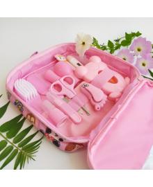Набор по уходу за новорожденным розовый 14 предметов
