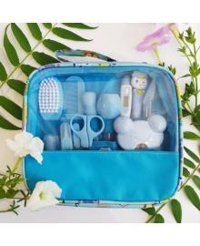 Набор по уходу за новорожденным голубой на 12 предметов