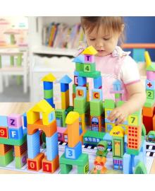 Детская развивающая деревянная игрушка конструктор город подарок для мальчика и девочки