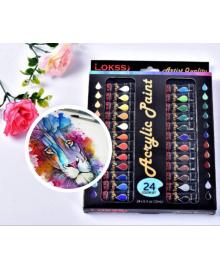 Акриловые краски набор 24 цвета в тубах