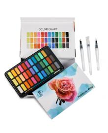 Подарочный набор Акварельные краски Professional Paint Set 36 цветов в металлическом пенале + подарок 1248