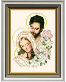 Набор для вышивки бисером Княгиня Ольга Икона Святое Семейство ЛК-034ч