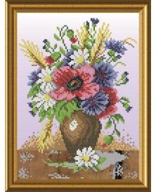 Набор для вышивки бисером Княгиня Ольга Полевые цветы. СКМ-027ч