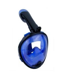 Детская панорамная маска для дайвинга и снорклинга BabySmile Black and Blue