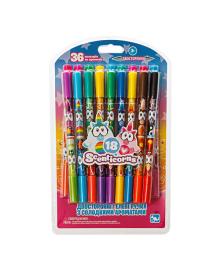 Ароматизированные двухсторонние гелевые ручки Kangaru Scenticorns 18 шт