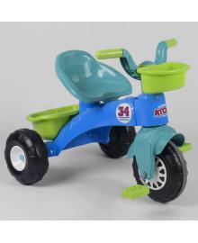 Трехколесный велосипед 07-169 (1) пластиковые колеса с прорезиненой накладкой, корзинка, багажник, в коробке PILSAN Igr-92055