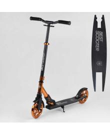 """Самокат алюминиевый """"Best Scooter"""" S-40388 (2) колеса PU, d колес - 180мм, 1 аммортизатор передний, в коробке"""