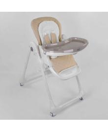 Стульчик для кормления Toti W-70016 (1) мягкий PU, мягкий вкладыш, 4 колеса, съемный столик, в коробке