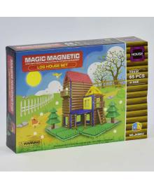 """Конструктор магнитный JH 8852 (48) """"Домик"""", 65 деталей, в коробке"""
