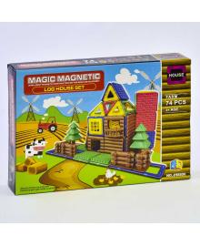 """Конструктор магнитный JH 8856 (48) """"Ферма"""", 74 детали, в коробке"""
