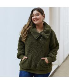 Толстовка женская с накладными карманами Soft Berni Fashion PLUS 73526-P92067