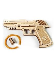 Механический 3D пазл Ukrainian Gears Пистолет Вольф-01