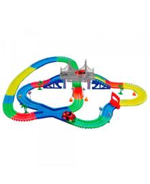 Детская игрушечная дорога Supretto 360 деталей + 2 машинки (5486)