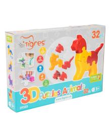 Развивающая игрушка Tigres 3D пазлы Зверушки 32 эл