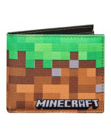 Кошелек Грязные блоки - разноцветный, на два отделения, Minecraft Dirt Block Bi-fold Wallet-N / A-MultiColor JINX