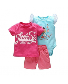 Комплект для девочки 3 в 1 Vlinder Принцесса в цветах Різнокольоровий
