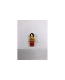 Дівчинка з довгим волоссям, в червоних штанях і оранжівой кофтині