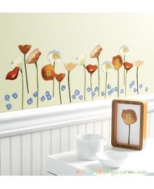 """Интерьерные наклейки """"Цветы"""" WALLIES"""