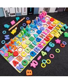 Детская деревянная развивающая игрушка геометрика рыбалка монтесори подарок для мальчика и девочки
