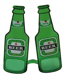 Очки Бутылки пива (зеленые) 250216-222